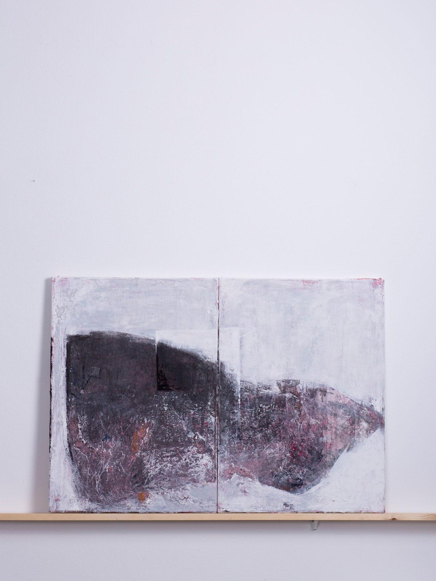 Adelaun, 2014 - 100x70 cm, <br>Acryl und Spachtel auf Doppelleinwand