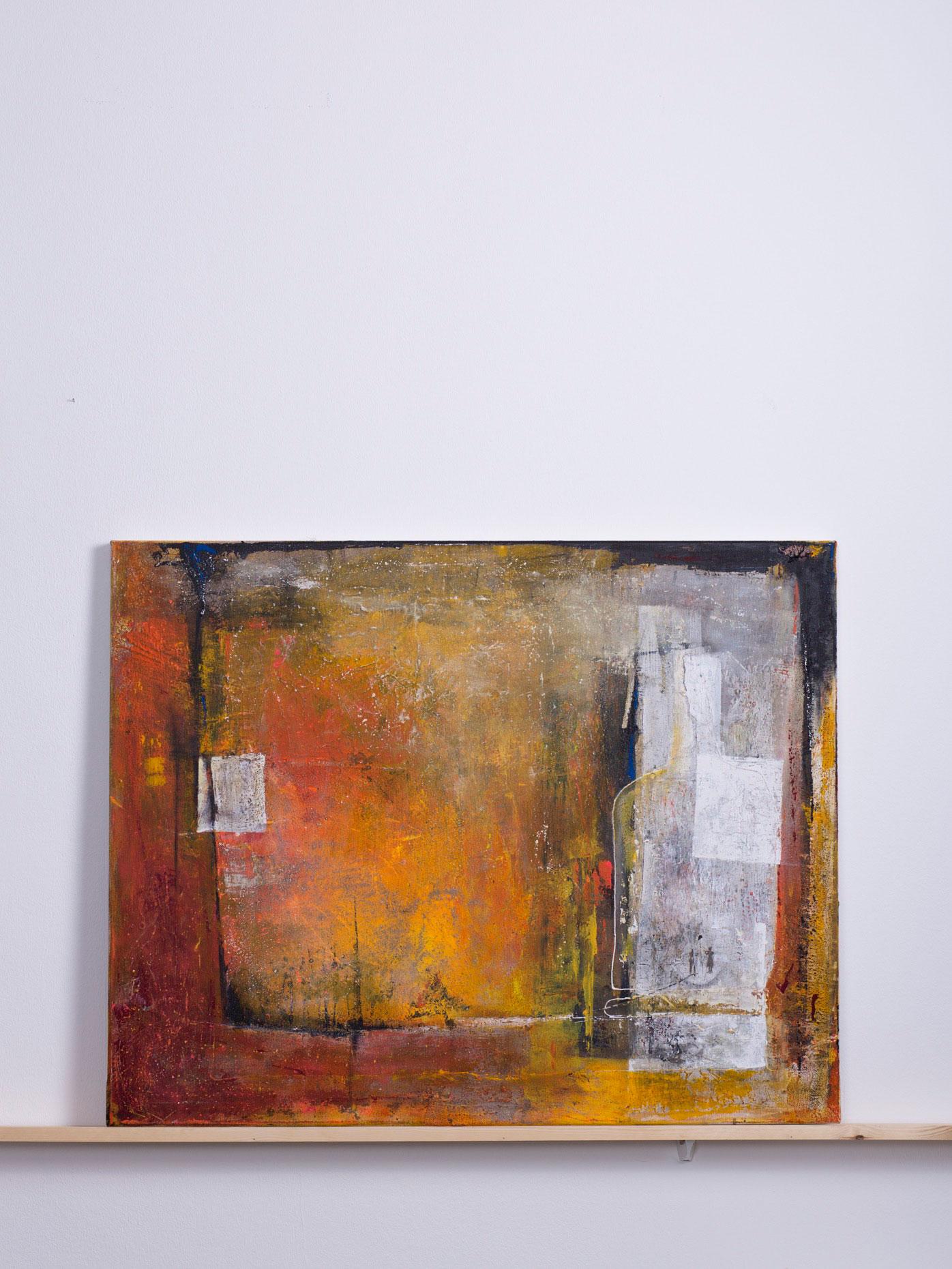 Amadeas, 2014 - 100x80 cm, <br>Acryl  und Sand auf Leinwand