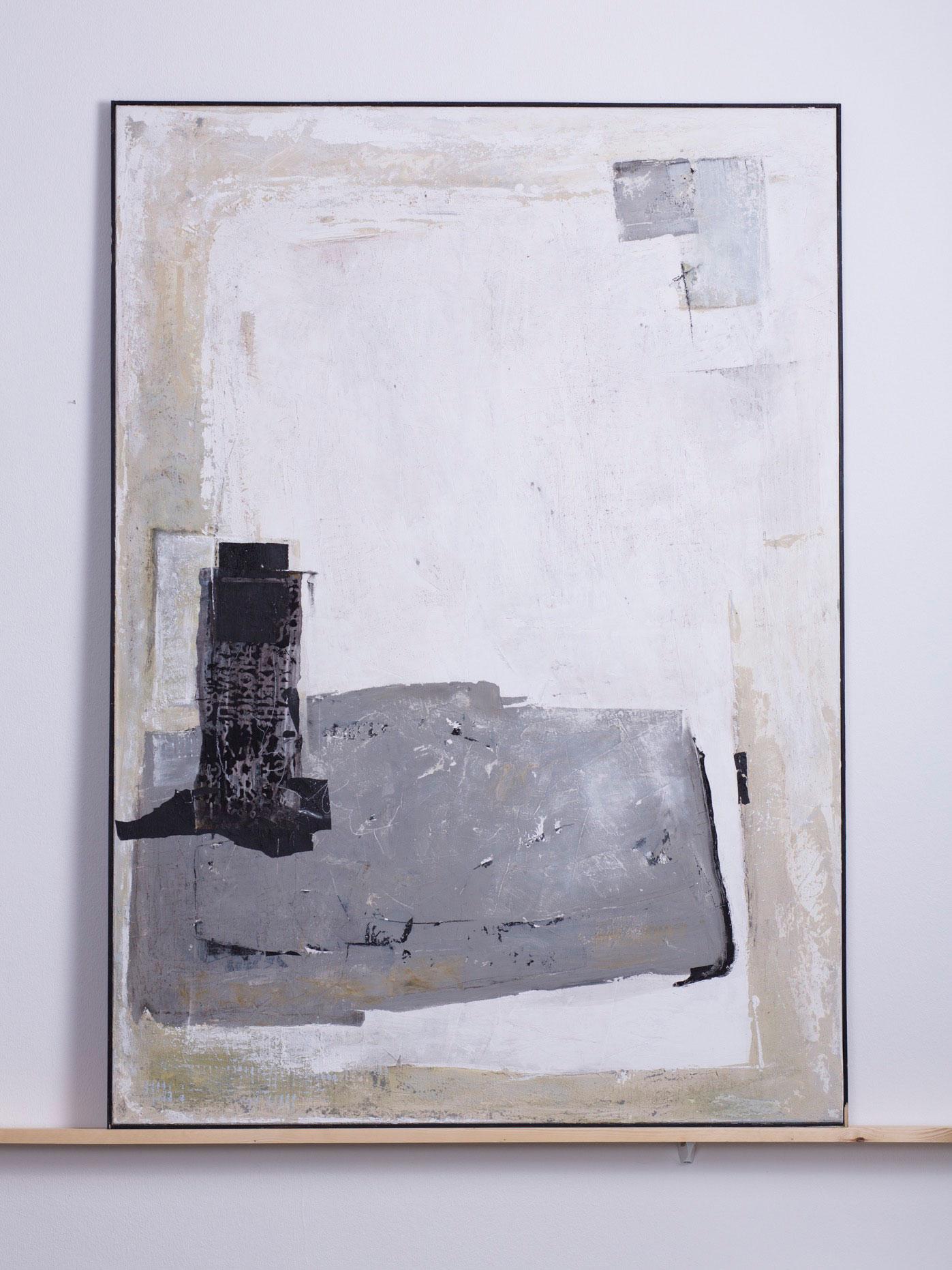 Kynegetikon, 2011 - 100x140 cm, <br>Acryl, Papier und Kohle auf Leinwand