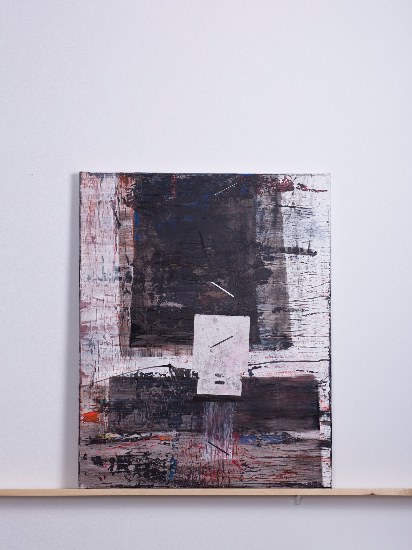 Mikado, 2012 - 80x100 cm,<br> Acryl und Papier auf Leinwand