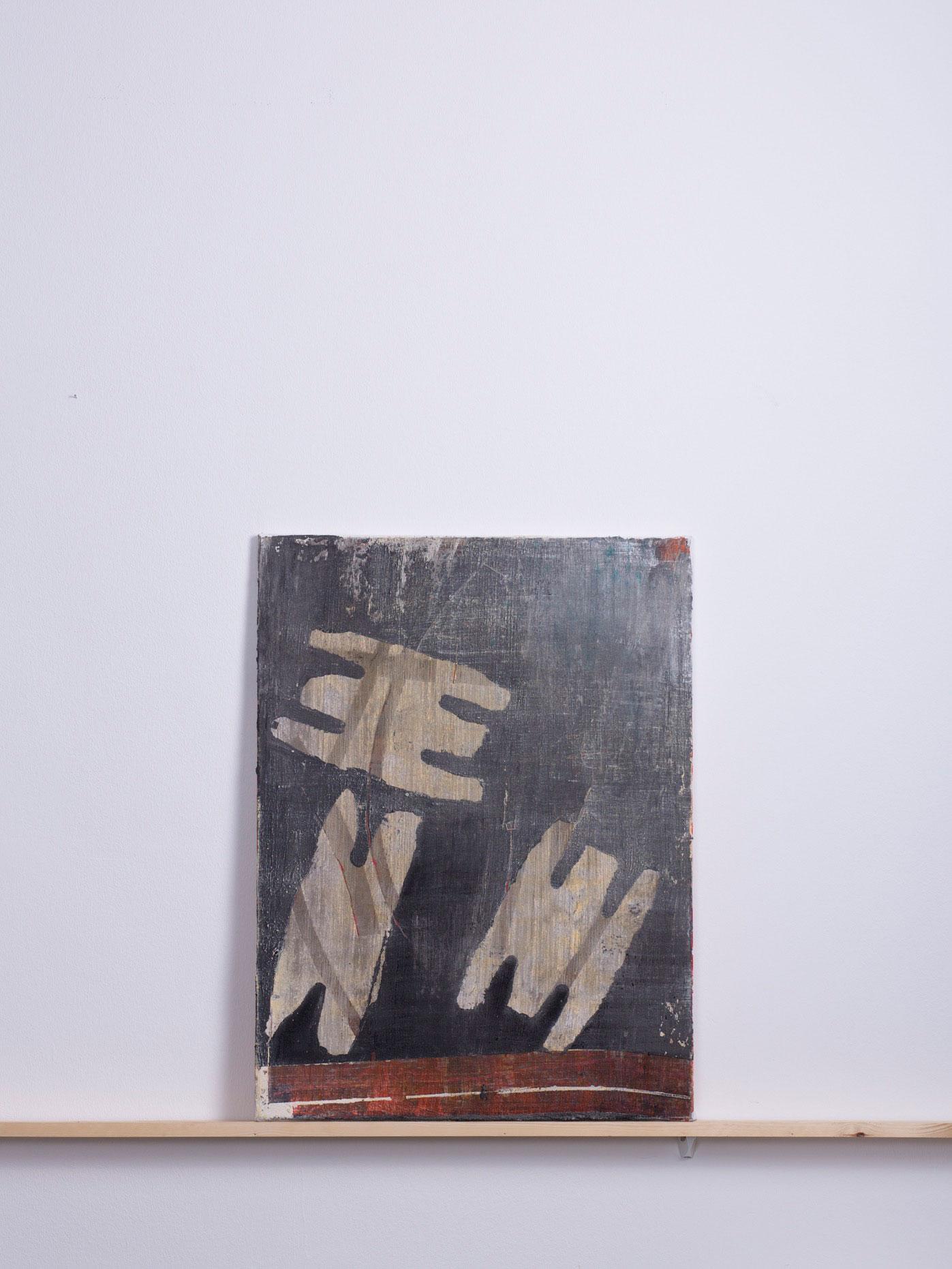 NEENI, 2014 - 60x80 cm, <br>Acryl und Sand auf Leinwand