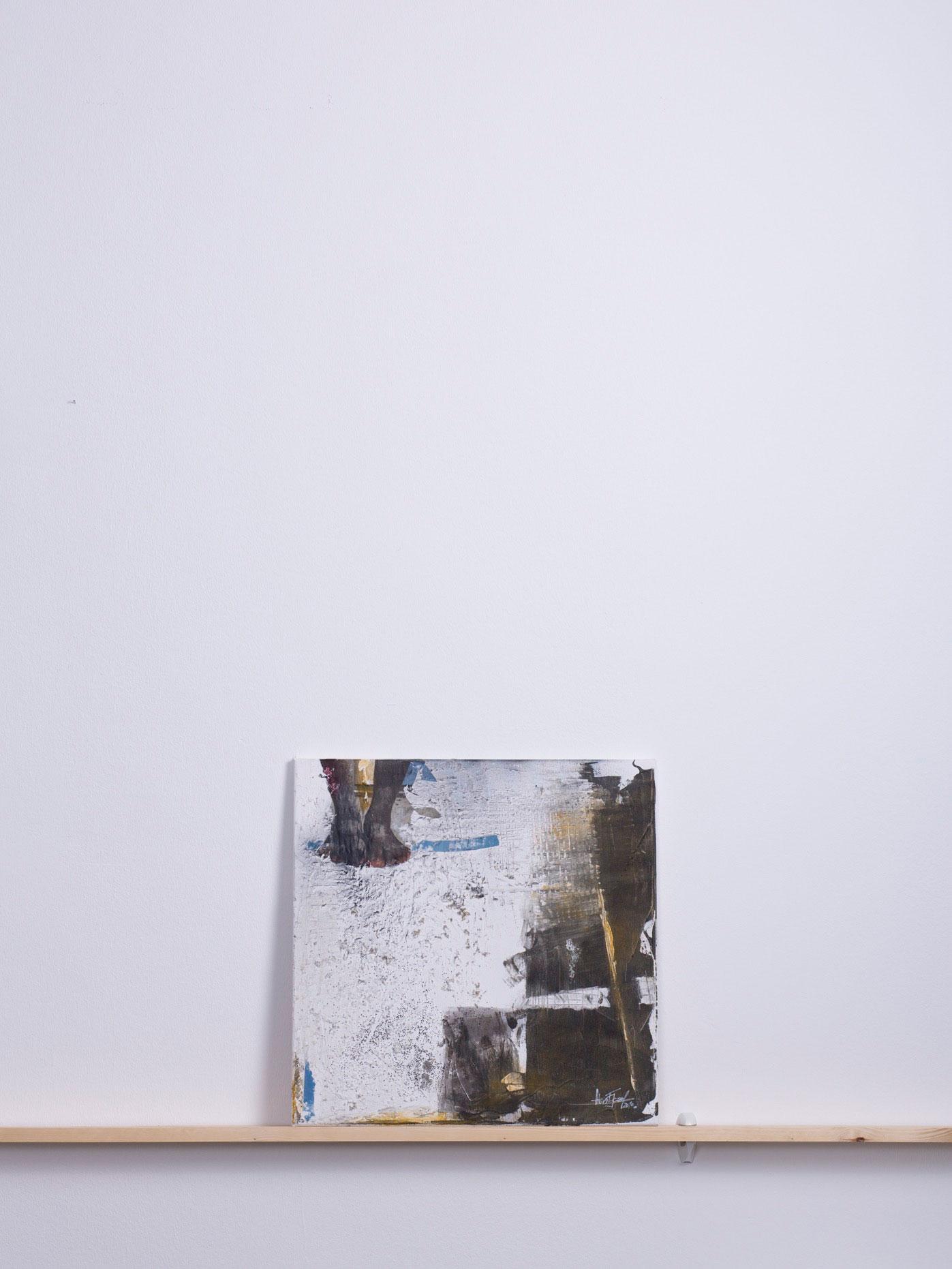 , 2010 - 50x50 cm,<br> Acryl und Papier auf Leinwand