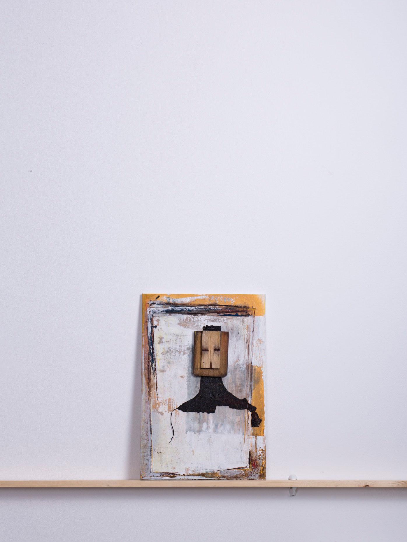 Saramura, 2011 - 40x60 cm, <br>Acryl, Holz und Pappe auf Leinwand