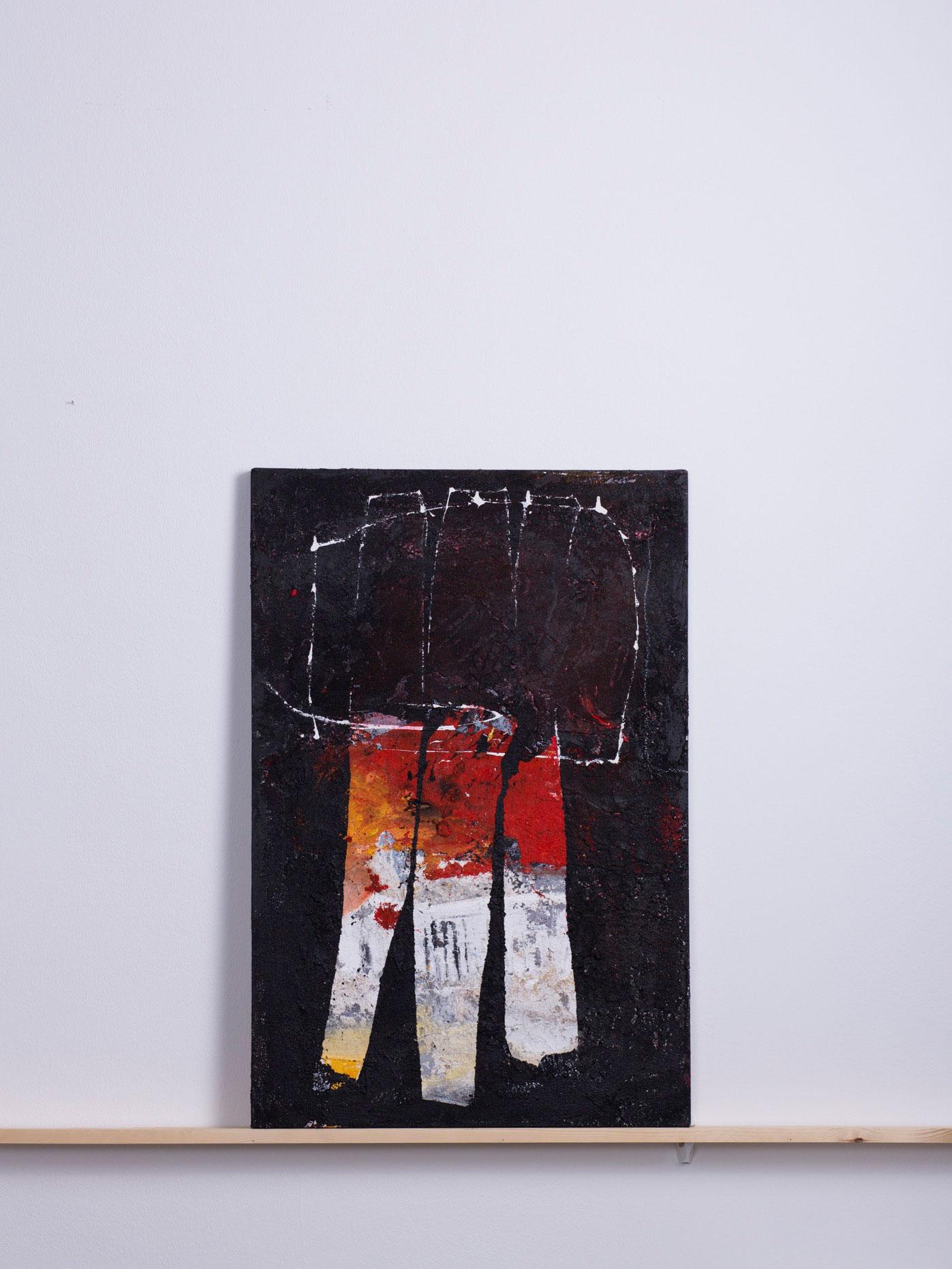 Triflixx, 2011 - 60x90 cm, <br>Acryl und Sand auf Leinwand