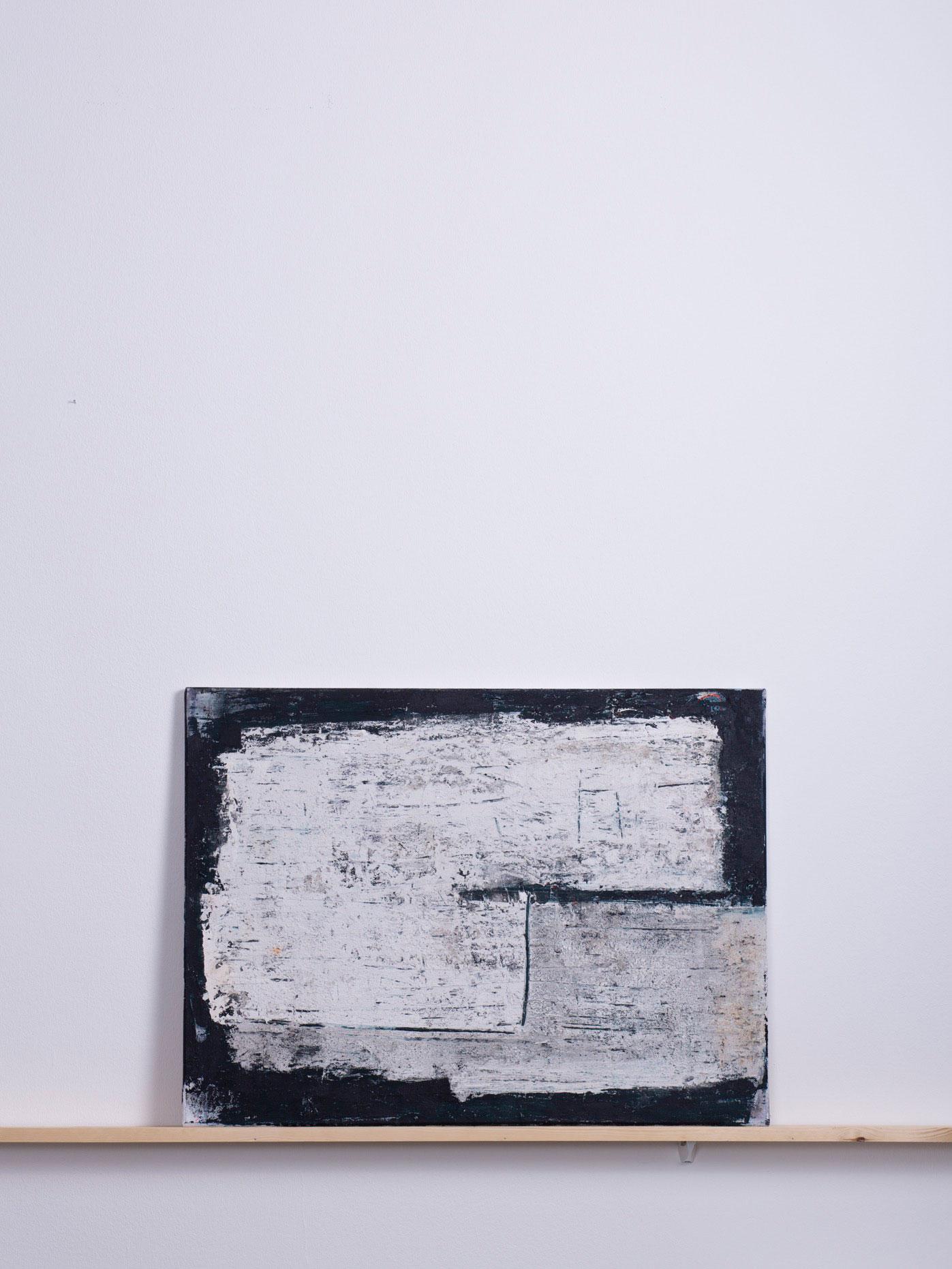 Yami Kado, 2014 - 80x60 cm, <br>Acryl, Spachtel und Sand auf Leinwand